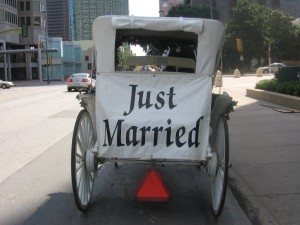 This says it all Just Married