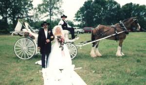 1999 June 12 Vickie, Dad, Brian and cowboy