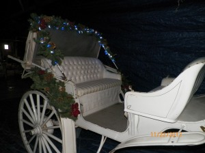 Classic Carriage #4  Seats with Christmas Decorations and lights