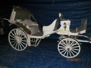 Classic Carriage #4 with Christmas Decorations