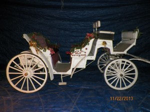 Merlot or Disco Carriage #6 with Christmas Decorations