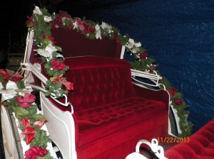 Ruby Carriage #8 Seat with Christmas Decorations