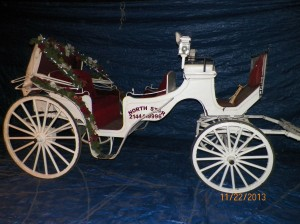 Ruby Carriage with Christmas Decorations