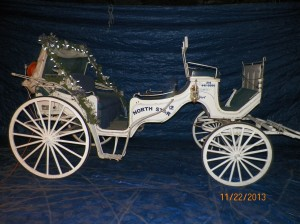 Vintage Carriage #12 with Christmas Decorations